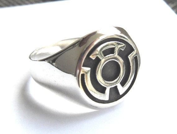 sinestro corps fear green lantern ring sterling by vikigreen