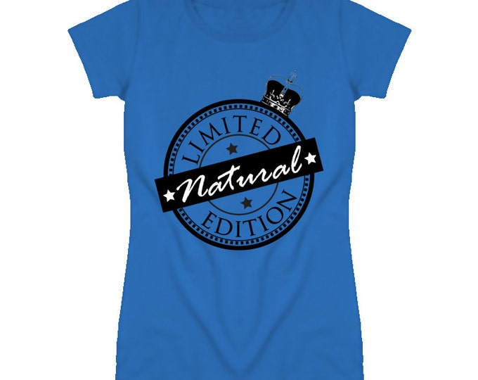 Limited Edition Natural Women's Fitted T-shirt - Royal Blue
