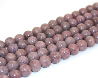 Purple Lilac Beads, 12mm Round, 16 Inch Strand