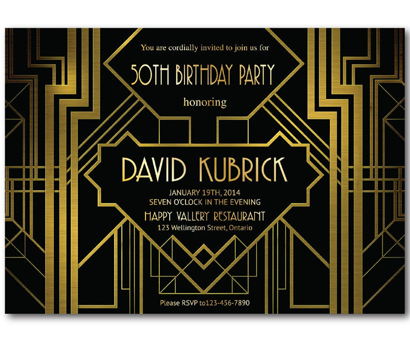 Art deco invite – Art Deco Party Invitations