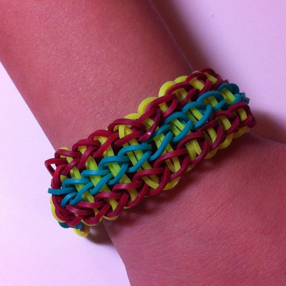 similar to Triple Single Rainbow Loom Bracelet. Triple Single Bracelet ...