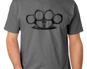 L Brass Knuckles TCB Screen Print T-Shirt