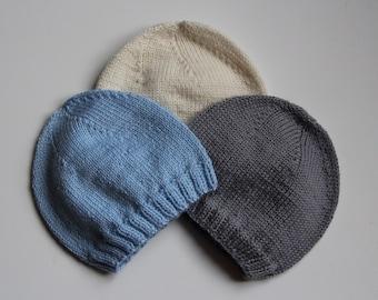 Hand knitted baby hat / newborn knitted baby hat / Merino wool baby hat / baby hat