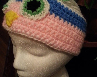 Owl ear warmer this is crocheted and can be made in any color combonation that you would want