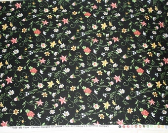 "Floral ""Toad-ally Yours"" (black) Fabric Collection"