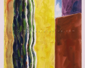 """Colorful Fine Art Print. Watercolor Painting. Wall Decor. Los Cabos, Mexico - """"Standing Tall""""."""