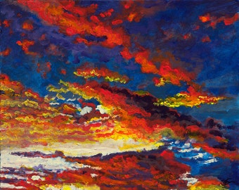 """Unthought Known- Contemporary giclee on gallery wrapped canvas 16"""" x 20"""""""