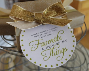 Favorite Things Gift Tags - Instant Download