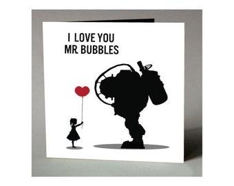 BioShock 'I Love You Mr. Bubbles' Minimalist Print
