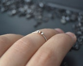 Geometric granulation 2 - thin stacking rings in sterling silver with silver and copper granules