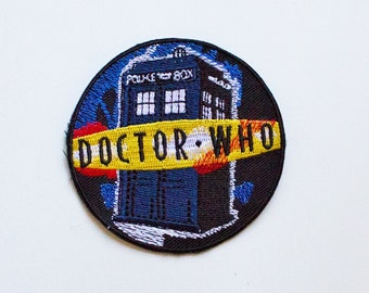 Doctor Who Tardis Patch... Iron On about 3 inches