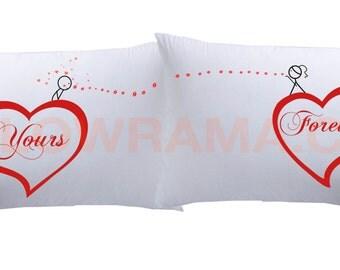 kissenbezug ihre und seine seite super weiche von kolorama auf etsy. Black Bedroom Furniture Sets. Home Design Ideas
