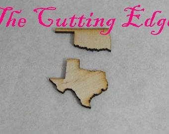 Single Laser Cut Wooden States