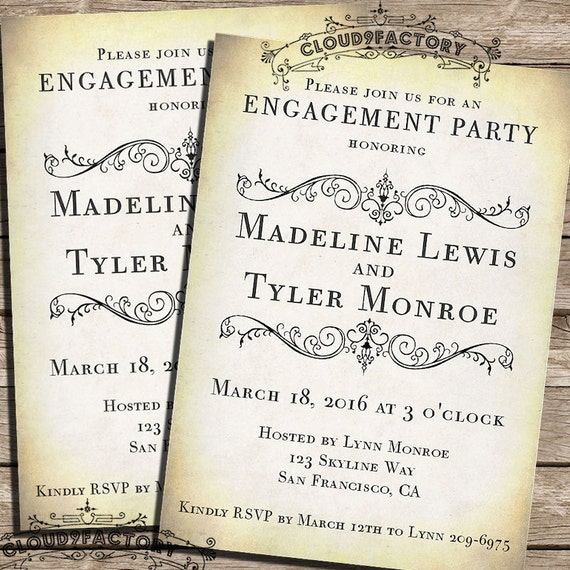 Rustic Engagement Party Invitations – Engagement Party Invitations Etsy