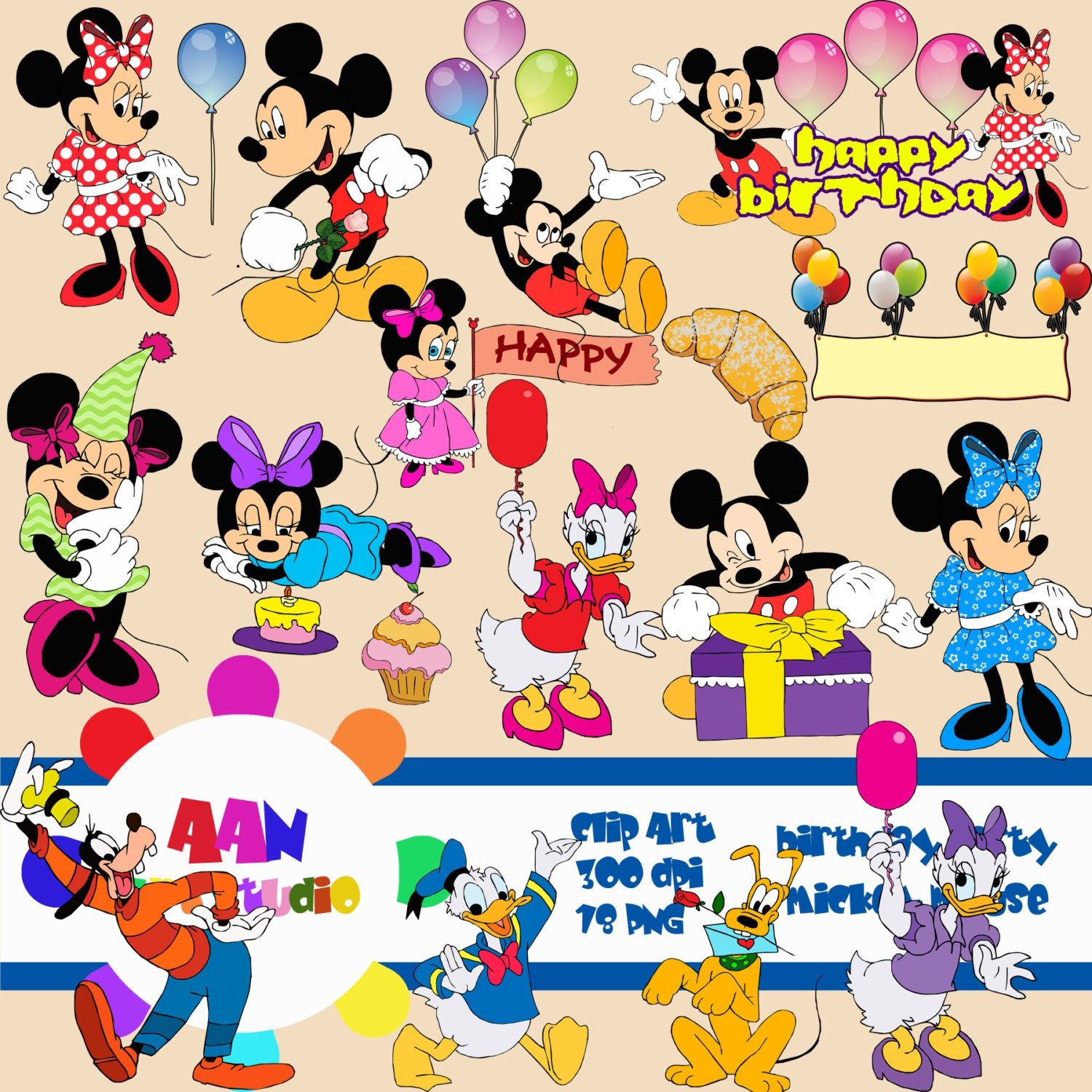 Mickey Mouse Birthday Clip Art Mickey mouse clipart. baby