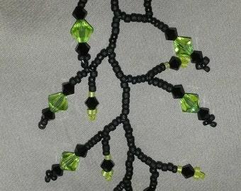 Vape Charm Fob for e-cig Black and Lime Green