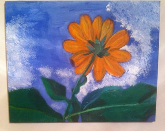 "Flower on 20""x16"" canvas"