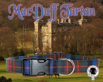 MacDuff Tartan Dog Collar,,, Authentic tartan from the Scottish Clan MacDuff