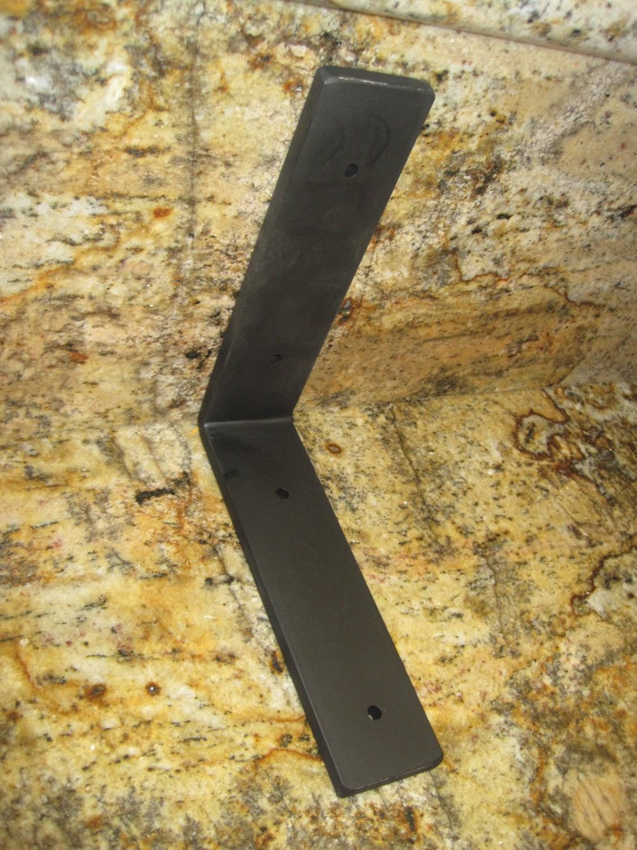 Heavy Duty Steel Corner Bracket Corbel By Prescottblacksmith