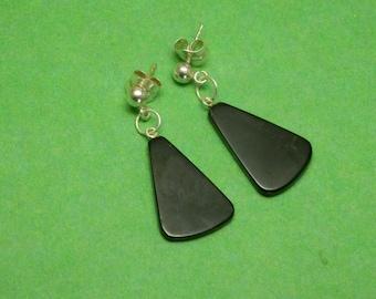 Jet Astur Earrings (single piece)