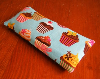 Cupcake eye pillow with washable slipcover