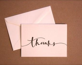 "Calligraphy Stationery Set - ""Thanks"""