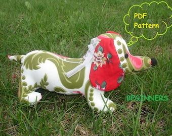 Dachshund puppy sewing pattern PDF FILE