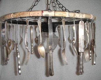 Recycled Vintage Silverware Chandelier