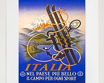 Italy Travel Art Print Italian Sports Vintage Home Decor Poster (ZT144)