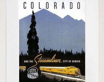Colorado Travel Art Poster Train Print Home Decor (XR193)