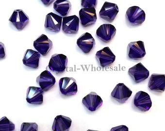 Purple Velvet (277) Swarovski Elements 5328 / 5301 6mm Crystal Xilion Bicone Beads ** FREE Shipping