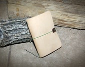 Field Notes - Moleskine Pocket Size - Midori Style - Leather Everyday Carry Cover - Sand
