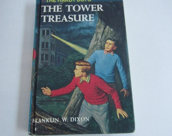 "Hardy Boys ""The Tower Treasure""vintage book, Hardy Boys The Tower Treasure book, Hardy Boys 1980s book, Hardy Boys No. 1, child vintage book"