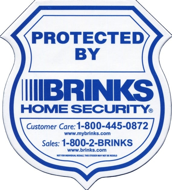 6 brinks home security window and door decals by for Brinks home security