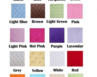 Minky Fitted Crib Sheets - ALL COLORS