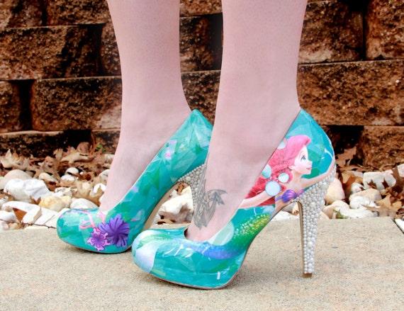 アリエル♥リトルマーメイド靴の作り方☆DIY☆