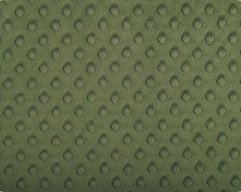 Hunter Cuddle Minky Dot Fabric  (Shannon Fabrics) Olive Green