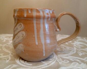 Handmade Ceramic Shino Handprint Mug