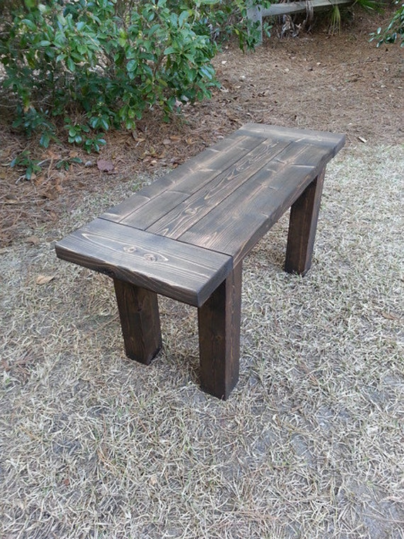 Rustic Style Wood Bench Entryway Bench by CoastalOakDesigns