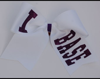 I Base Cheer Bow that  you customize....Tons of colors to choose from