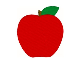 Apple Machine Embroidery Design - 4 Sizes - Instant Download Design