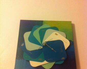 Paint chip clock