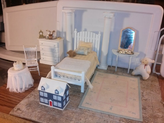 Great Quality Dollhouse Furniture Bedroom Set By