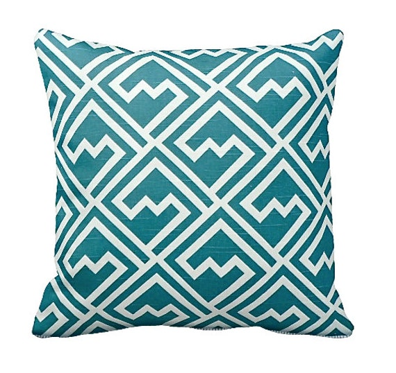 Common Decorative Pillow Sizes : 7 Sizes Available: Pillow Cover Teal Pillow by ReedFeatherStraw