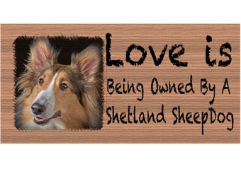 Shetland Sheepdog Wood Signs -Shetland Sheepdog GS402 - Dog Signs