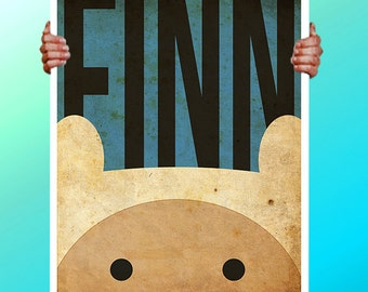 Adventure Time Finn Faces  - Art Print / Poster / Cool Art - Any Size