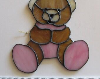 Stained Glass Suncatcher Teddy Bear