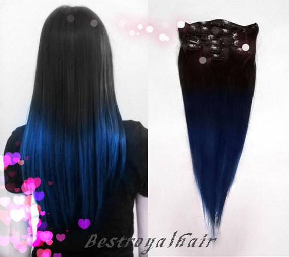 Black And Blue Hair Extensions 57