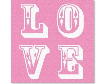 Pink - Love - Canvas Art - Art Print - Typography Art - Wall Art - Love Art - Print