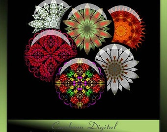 Kaleidoscope2 flowers collage sheet  for your crafting projects.